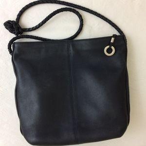 Navy, Leather Shoulder or Cross Body Hobo Bag